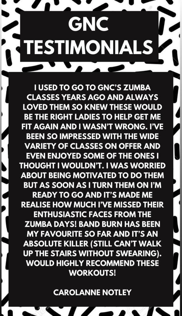 GNC Testimonial