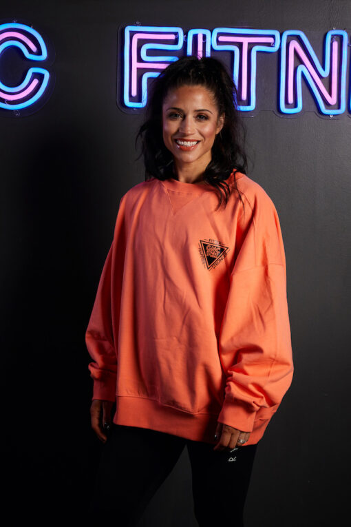 GNC oversized jumper front coral
