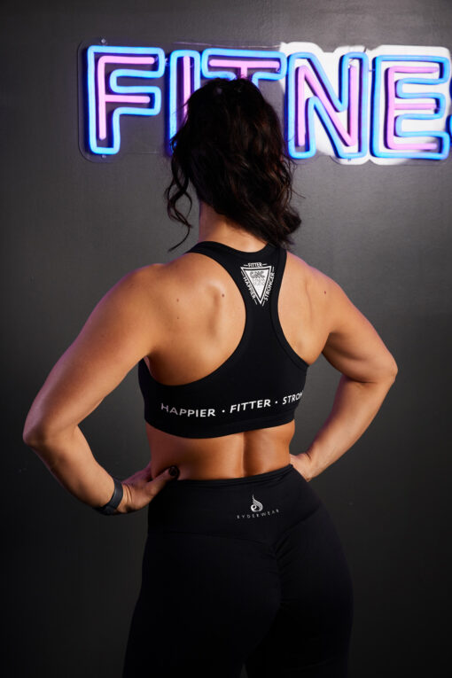 Muscle back Crop top black