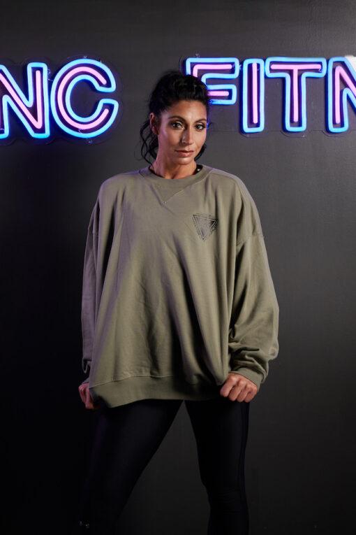 GNC oversized jumper khaki front