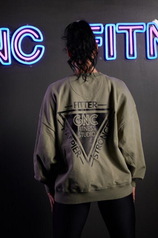 GNC oversized jumper back khaki