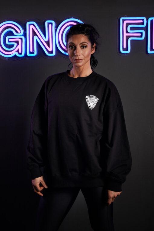 GNC oversized jumper black front