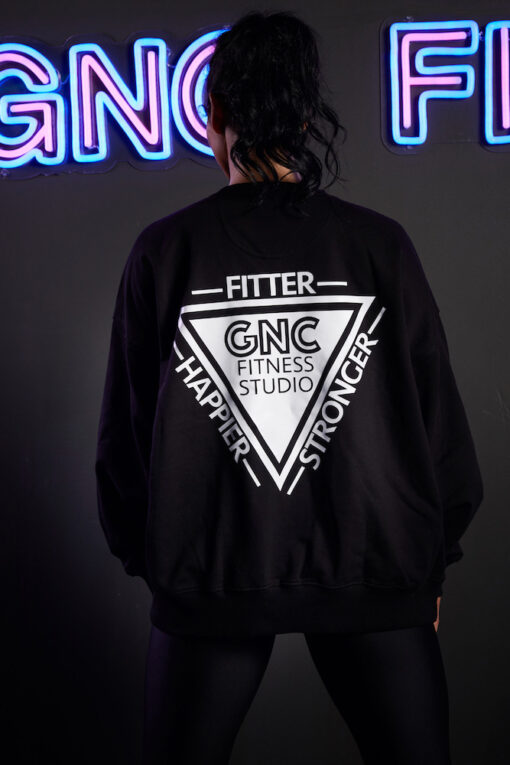 GNC oversized jumper black back